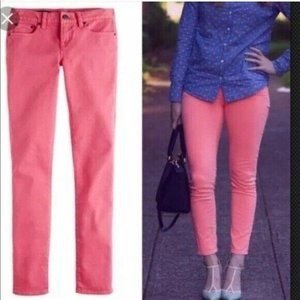 J. Crew Jeans Toothpick Skinny Pink 27 Ankle
